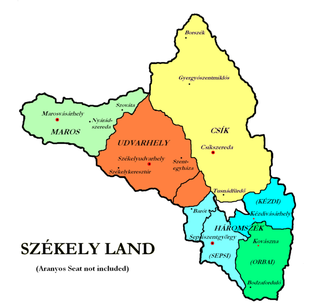 the map of szkelyland in the kingdom of hungary untill 1920 kp nagyts